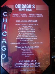 Chicago Ribs Happy Hour Menu
