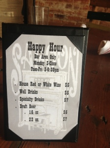 Saloon BBQ Happy Hour